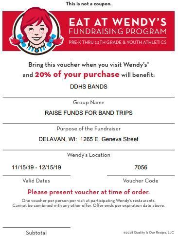 DDHS Band Program Fundraiser