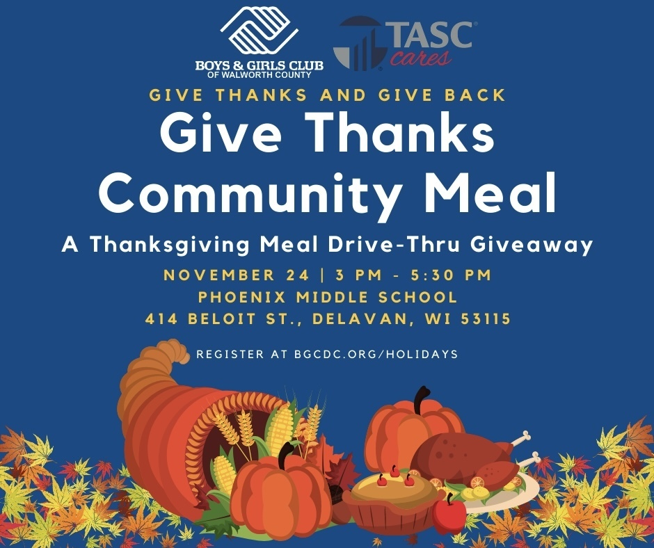 Boys and Girls Club Give Thanks Community Meal