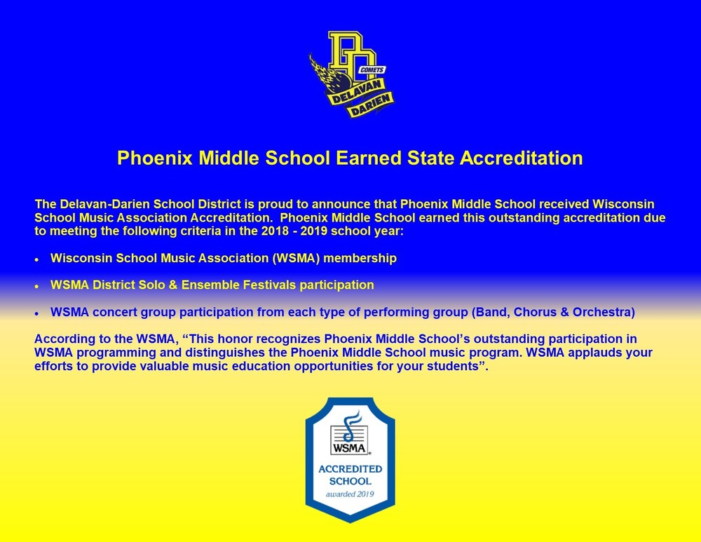 Phoenix MS Earns State Music Award