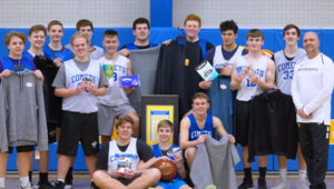 Boys' Basketball Supports Comet Care