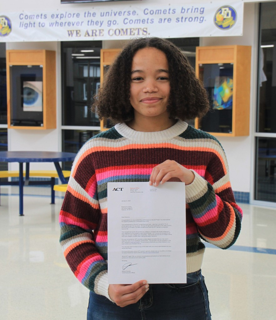 DDHS Student Earns Perfect ACT Score!