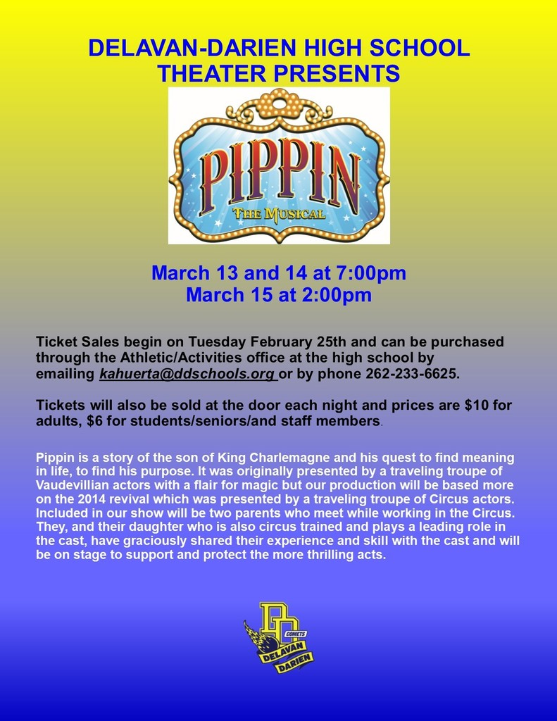 Pippin the Musical Coming Soon!