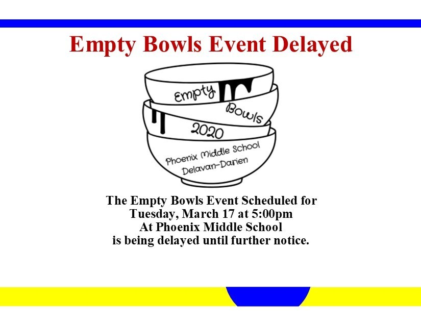 Empty Bowls Event Delayed
