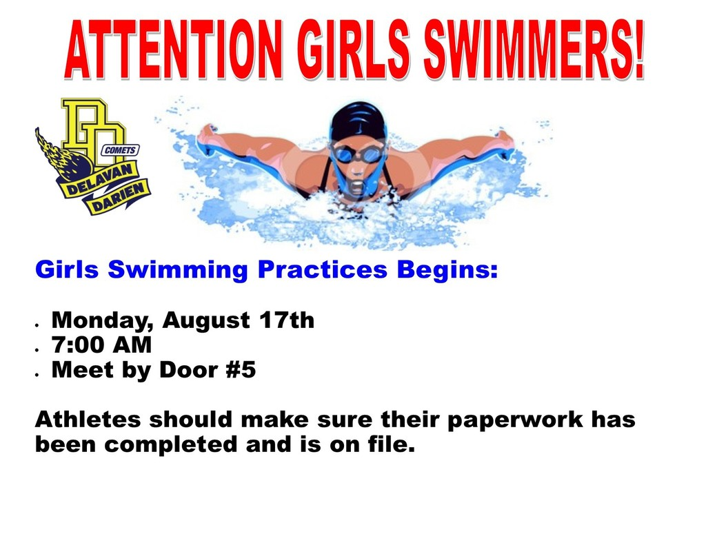 Girls Swimming Begins